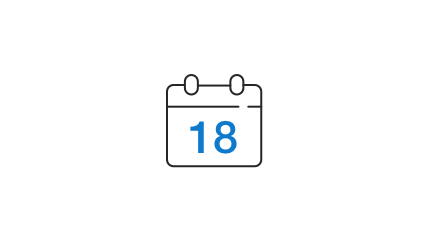 18 month minimum contract icon