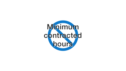 No minimum contracted hours icon